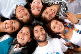 Circle group of young people