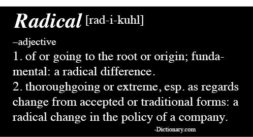 Radical Definition clip art